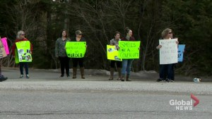Protestors gather outside Cherry Brook Zoo as allegations of animal cruelty persist